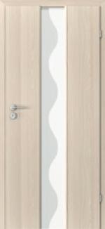 Dvere Porta Focus, model 2.0 sklo vlnka